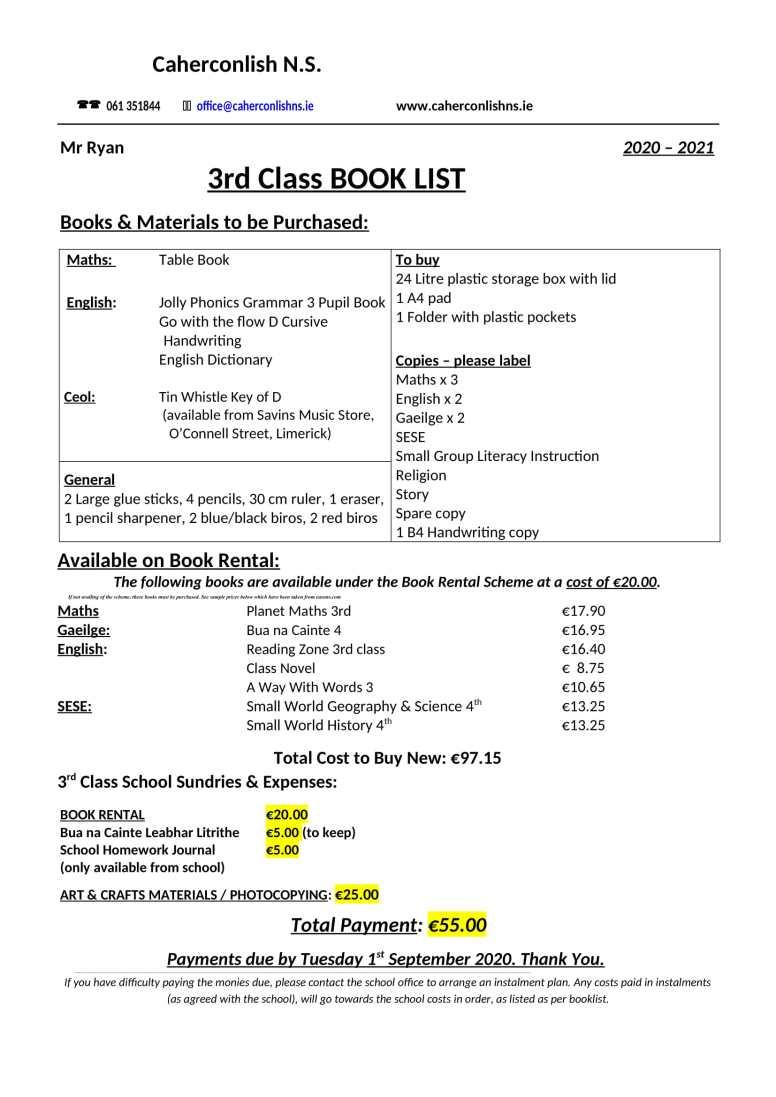 3 class-Book-List-1 2020 2021-1