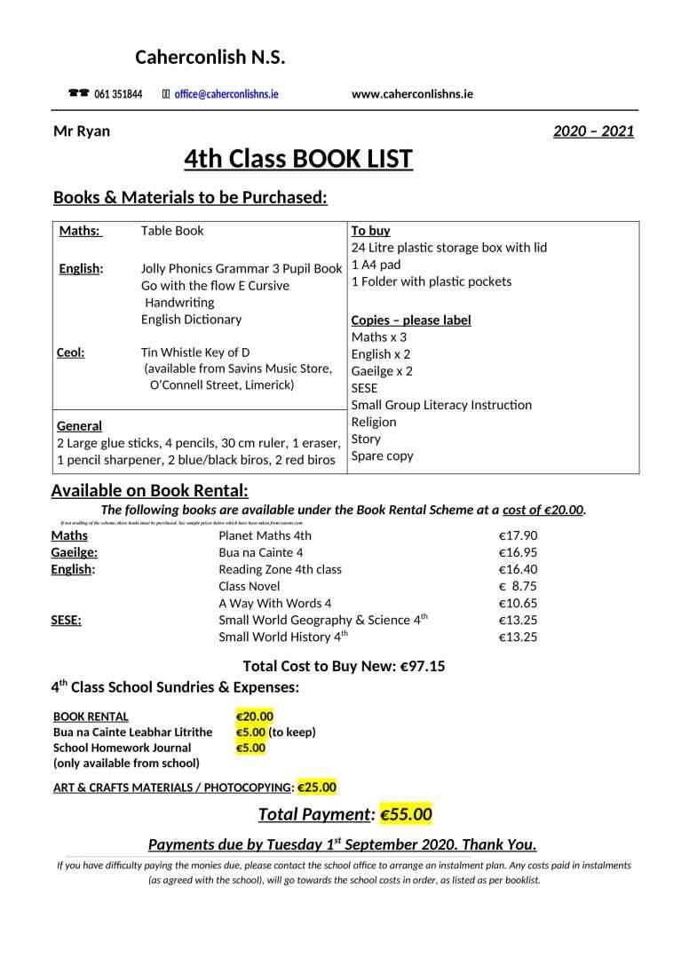 4 class-Book-List-1 2020 2021-1