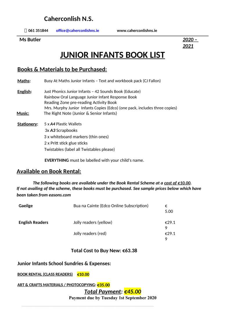 Junior-Infants-Book-List-2019 (1)-1